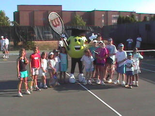 Deuce and Children Playing Tennis